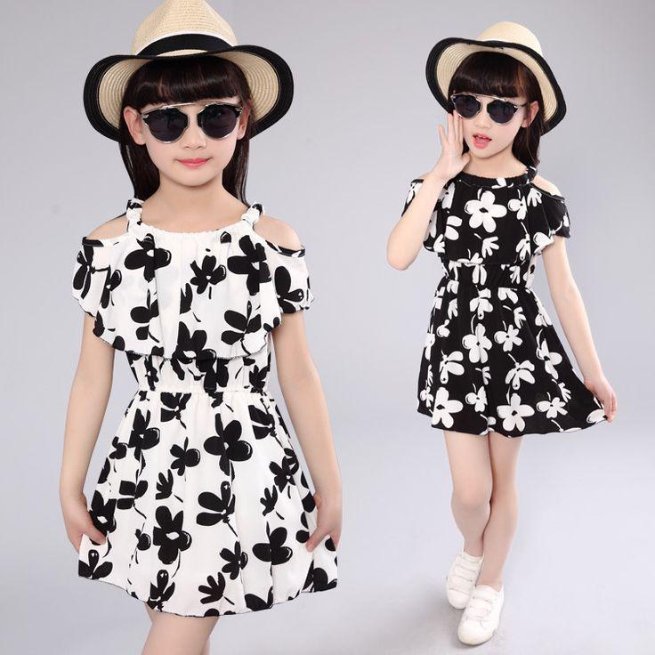 >> Click to Buy << Kids beach dresses girls summer princess dress baby girl clothes toddler print beach dress children clothing 5 8 12 years kids #Affiliate
