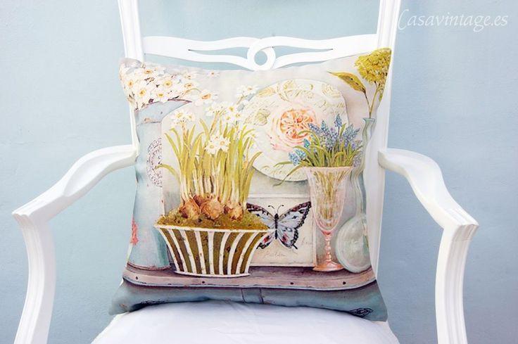 Casa Vintage | Funda/cojín Vases | Tienda online de decoración, antigüedades...