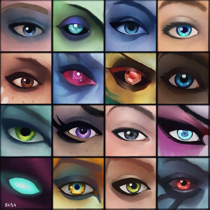 Dota 2 girls eyes. by WebTerr