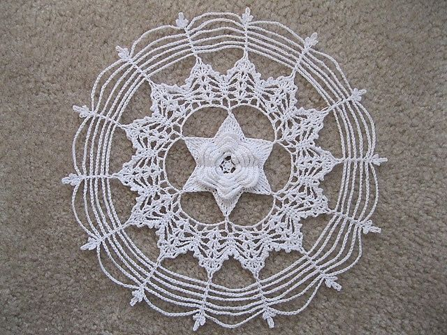 crochet doilies with stars | Crochet star doily | crochet | Pinterest