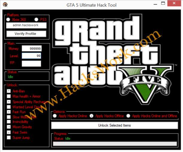 GTA 5 Ultimate Hack Tool