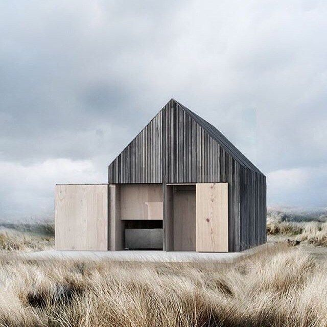 [ design ] this beach house has been constructed from cedar due to its ability…