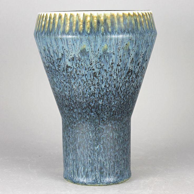 Carl-Harry Stalhane (SGZ 1960s) Blue Watertower Vase