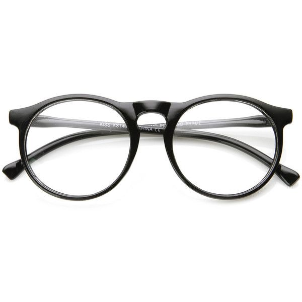 Indie Retro Round Clear Lens Fashion Glasses 8710 ($11) ❤ liked on Polyvore featuring accessories, eyewear, eyeglasses, glasses, sunglasses, fillers, rounded glasses, retro eyeglasses, retro eyewear and retro eye glasses