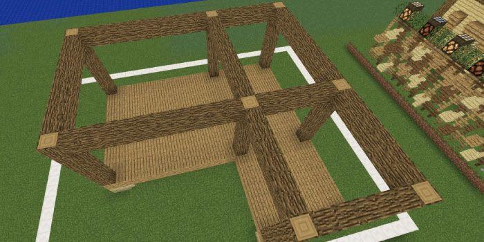 マイクラ 建築初心者でも作れる 木2種類のオシャレな家の作り方を
