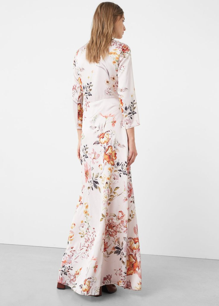Lange gebloemde jurk   MANGO