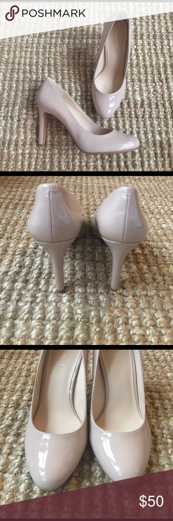 NWT Nine West Heel Awesome shoe! Not too tall, flattering toe shape and perfect nude color. Nine West Shoes Heels