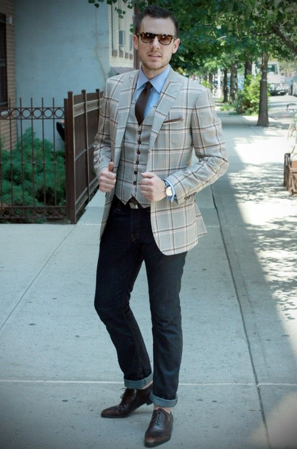The Style Blogger - How to Dress Up Jeans | TSBmen | Menu0026#39;s Fashion | Pinterest | Suit shirts