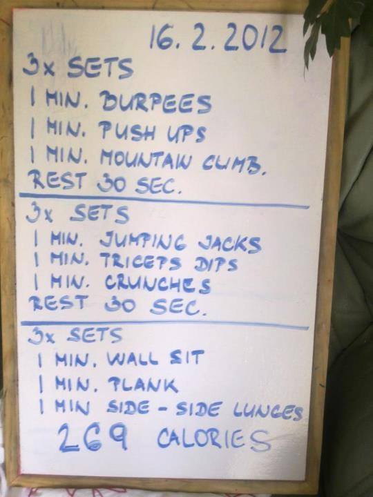 My weekend workout while on vacation +