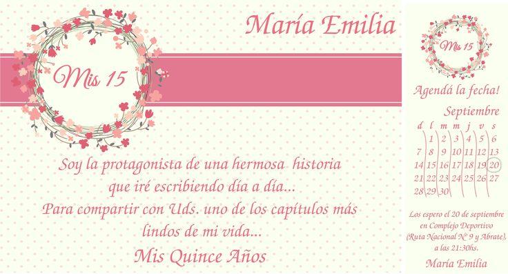 Invitación 15 años #flores #flowers #tarjeta | Tarjetas ...