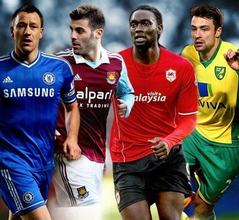 John Terry, Antonio Nocerino, Kenwyne Jones and Russell Martin