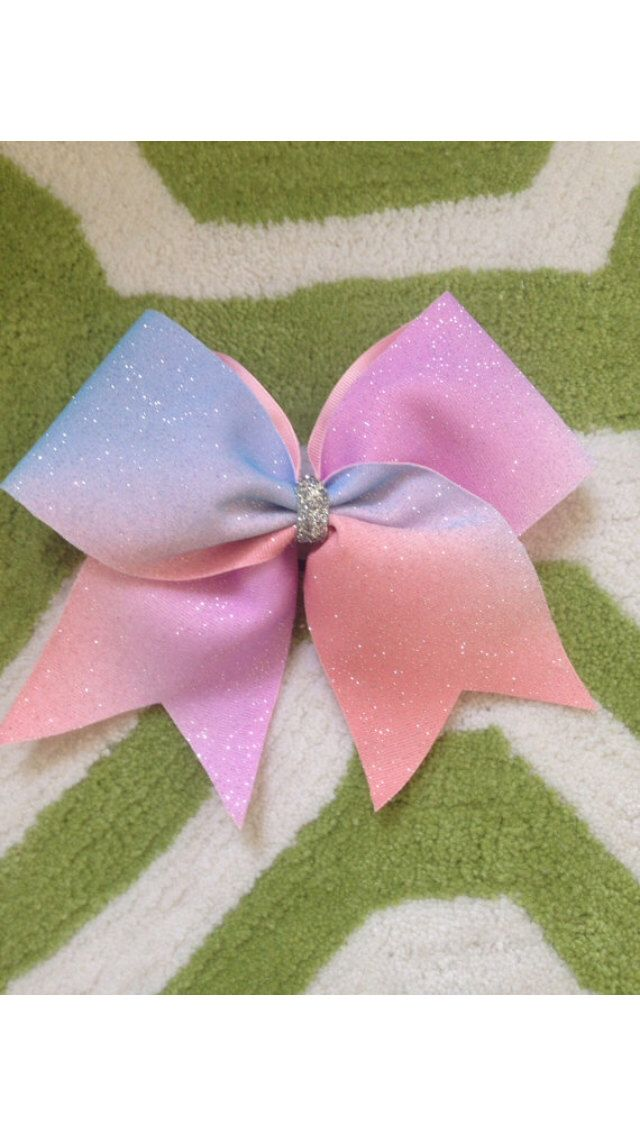 Sparkle ombré cheer bow by TheBowNanza on Etsy https://www.etsy.com/listing/178698536/sparkle-ombre-cheer-bow