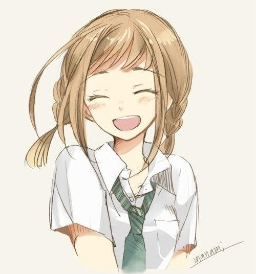 anime art | anime, art, cute, girl, happy - inspiring picture on Favim.com