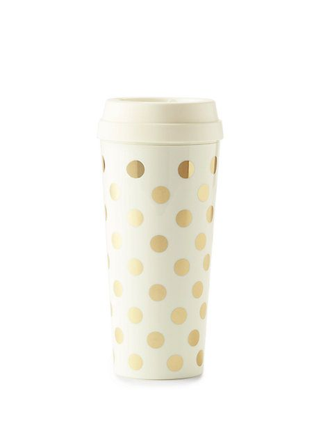 gold dots thermal mug - kate spade new york
