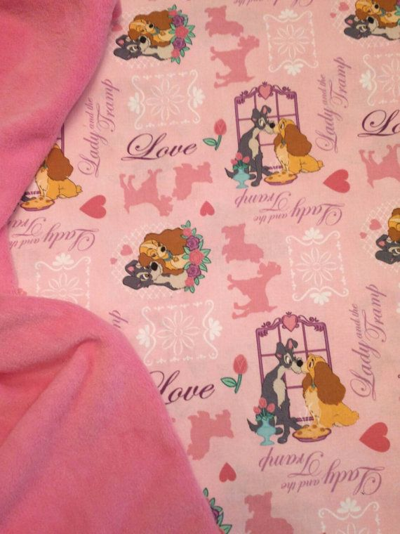 25 best lady and the tramp images on pinterest lady and the items similar to baby blanket lady and the tramp fabric personalized baby nursery shower gift more fabric back choices avail burp bib pacifier pods too negle Choice Image