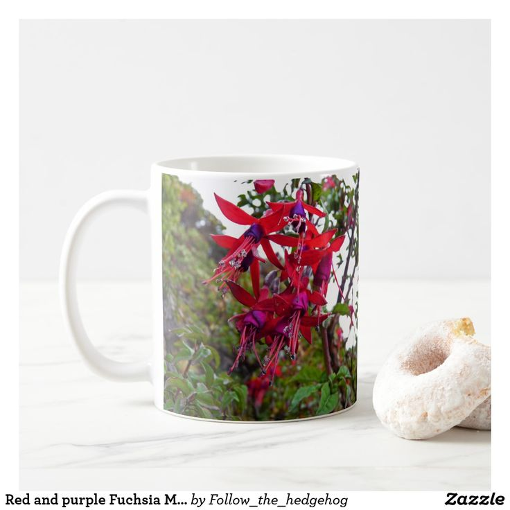 Red and purple Fuchsia Magellanica Coffee Mug Red and purple Fuchsia Magellanica. Hummingbird Fuchsia or Hardy Fuchsia is a species of flowering plant in the Evening Primrose family, native to Patagonia. The picture was taken in Ushuaia, Argentina