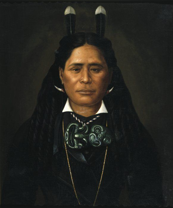 Ngahui RangitaKaiwaho of Wairarapa. Dec 21st 1880 painted by Gottfried Lindauer 1839-1926