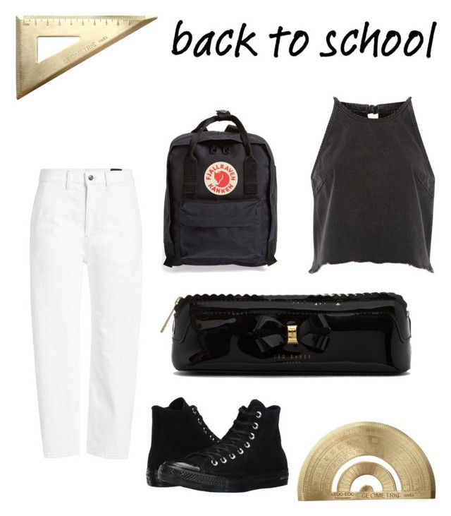 """back to school"" by geopaganeli on Polyvore featuring Fjällräven, Converse, Vince, River Island and Ted Baker"