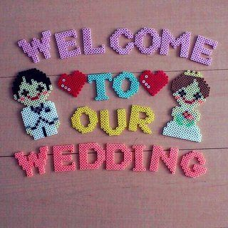 Wedding sign perler beads