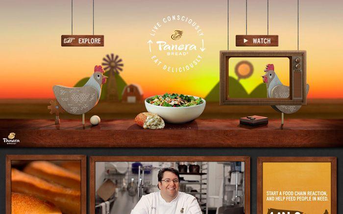 Panera Live Consciously Web design awards, Web design