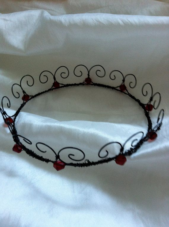 Wire Queen or Fairy Crown Dark Felicity Crown  by WirePrincess, $32.00