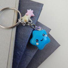 Porte-clés étoile kawaii