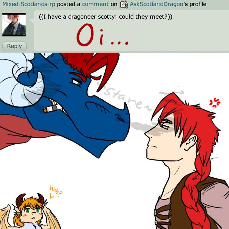 ||Q13 - Meeting a Dragoneer?|| by AskScotlandDragon on DeviantArt