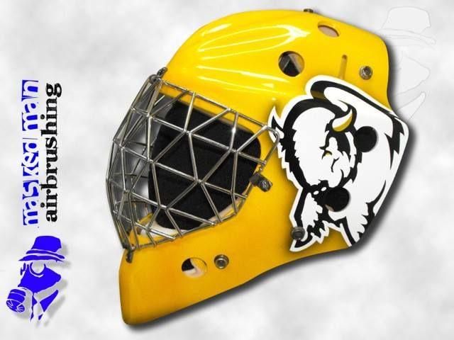 The Bison Goaliemask Airbrush Hockey Goalie Mask Masked Man Helmet