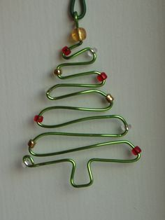 Handmade wire Christmas Tree ornament