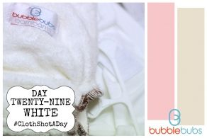 Cloth Shot a Day - Day 29 White Practical #clothnappies #clothshotaday #getintocloth
