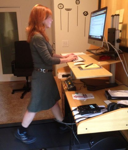 Test driving the office treadmill desk with writer Susan Orlean   Take Two   89.3 KPCC   workwhilewalking.com
