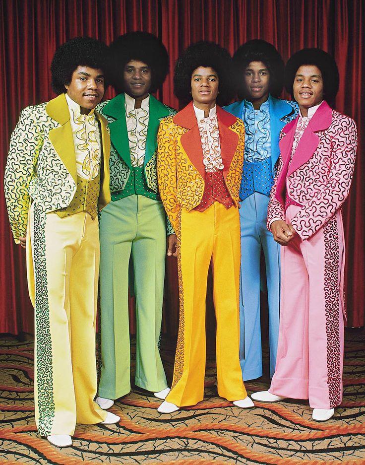 "soundsof71: ""Tito Jackson, Jackie Jackson, Michael Jackson, Jermaine Jackson and Marlon Jackson, February 28, 1975, by Fin Costello """