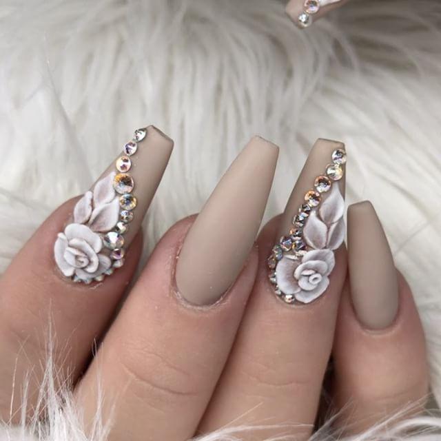 45 Most Beautiful 3d Nail Art Design Ideas For Trendy Girls 3d Nail Art Designs Cute Acrylic Nails Gorgeous Nails