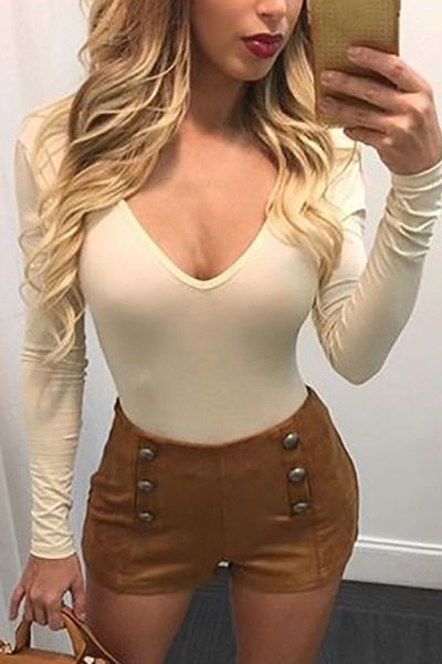 m.lovelywholesale.com wholesale-sexy deep v neck long sleeves backless beige polyester t-shirt-g155732.html