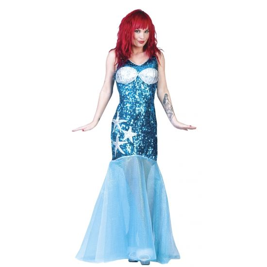 Loveboat kleding bij warenhuis Trendmax, Carnavalskleding Zeemeermin jurk blauw,ariel,blauw,blauwe,blue,kleine,meermin,meerminnen,mermaid,mermaids,sprookje