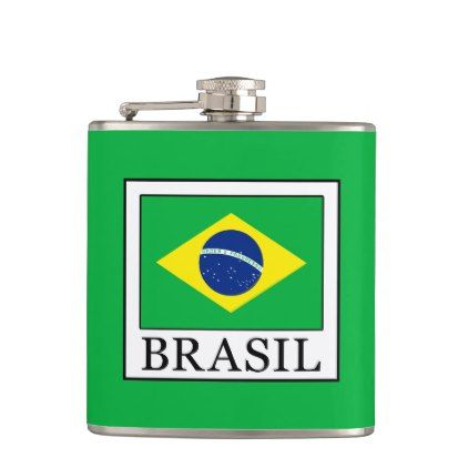 Brasil Hip Flask  $26.35  by KellyMagovern  - cyo diy customize personalize unique