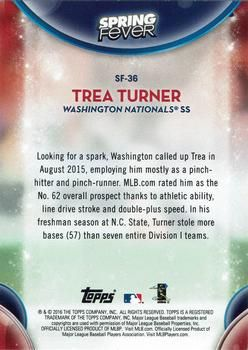 2016 Topps - Spring Fever #SF-36 Trea Turner Back