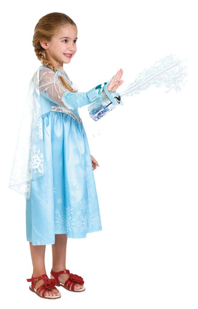 """FROST Elsas isskyder Vand- og isspray til børn.Lav fortryllende """"snestorme"""" med Elsas isskyder. Skyder med sjove strenge eller vand. Inkl. armbånd, isspray, vandspray og ærme."""