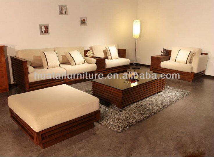 chinese modern living room fabric sofa sets wooden sofa set furniture
