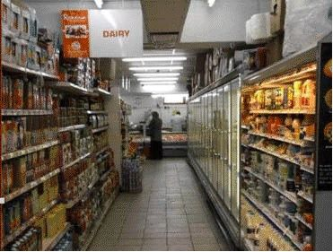 Shopfittings Retail Store Displays: Quality metal shop shelving. Supermarket shelving.