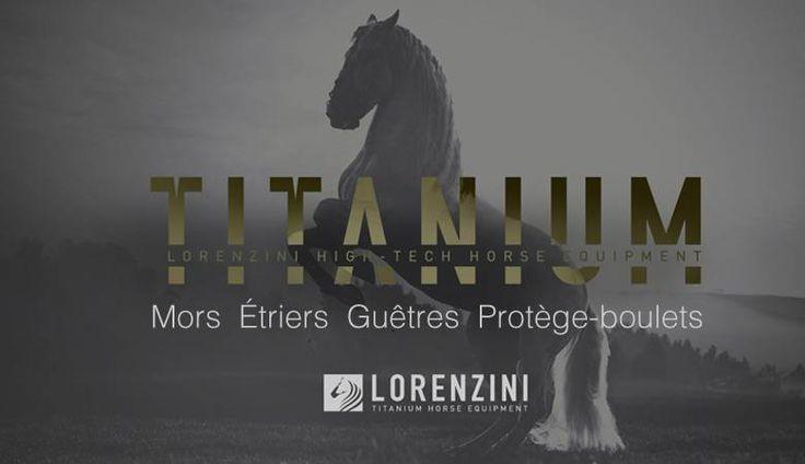Collection Lorenzini Titanium, étriers, mors, guêtres et protège boulets en titane