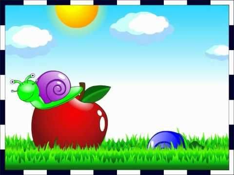 ▶ Escargot sur une pomme - Comptine pour les petits (French Nursery rhyme) - YouTube