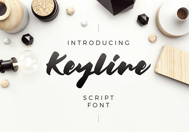 Keyline A delicious script font #handlettering #fonts #design #dribble