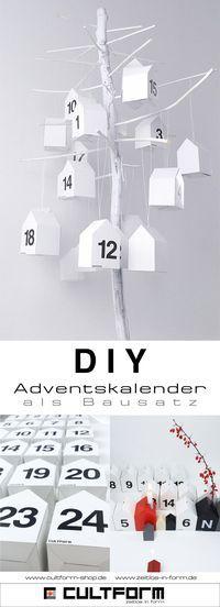 Weihnachts-DIY: Adventskalender mit Stil zum selbst gestalten. Einfach da als Bausatz. Passend zu den anderen Weihnachtsprodukten von CULTFORM #diy  #weihnachten  #adventskalender #adventskalenderbasteln  #basteln  #minimalistisch  #erzgebirge  #weihnacht