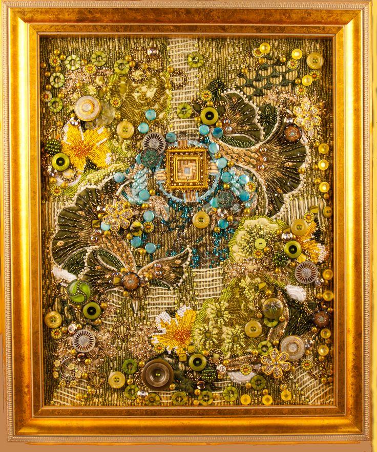 16 best Meditation Gardens -art quilts images on Pinterest ... : framed quilt art - Adamdwight.com