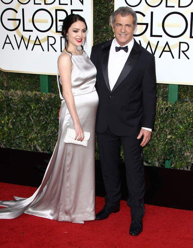 Mel Gibson et Rosalind Ross aux Golden Globe Awards, le 8 janvier 2017.