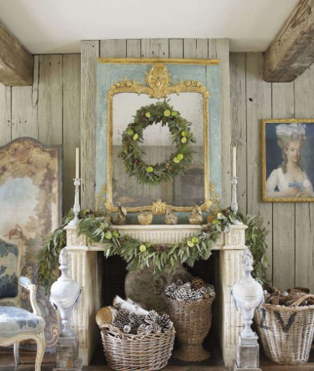 Veranda magazine natural mantle decor crimbo pinterest for Decoration veranda