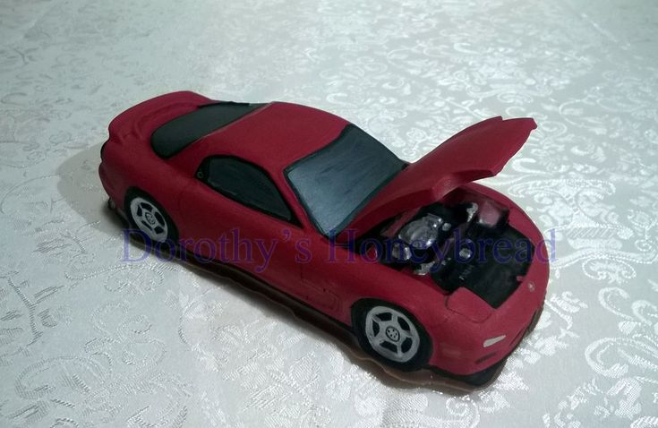 Mazda RX-7 rx7 FD3S Series 6 with engine bay Medium scale