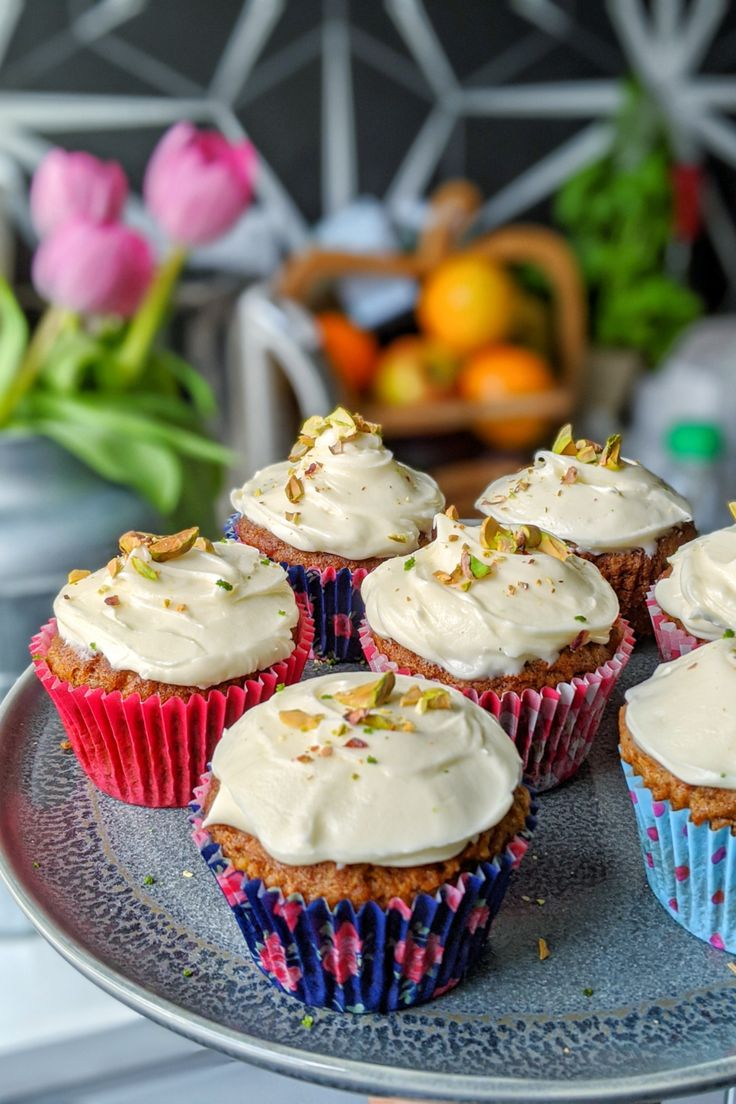 Carrot Cake Cupcakes with Cream Cheese Frosting Gluten