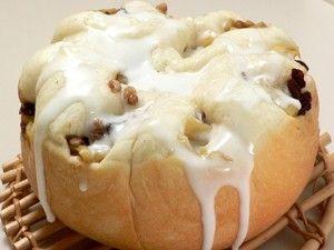 炊飯器で作る!大きなアップルシナモンロールパン